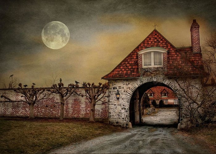 Haunting Greeting Card featuring the photograph The Watcher by Robin-Lee Vieira