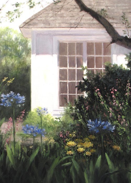House Greeting Card featuring the painting The White House by Linda Jacobus