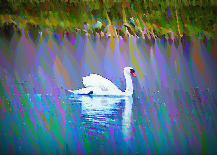 Swan Greeting Card featuring the photograph The White Swan by Bill Cannon
