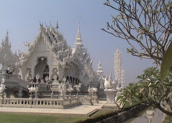 Travel Greeting Card featuring the photograph The White Temple by William Thomas