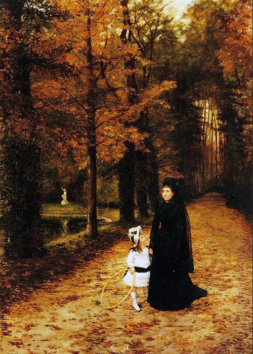 The Widow's Walk Greeting Card featuring the painting The Widow by Horace de Callias