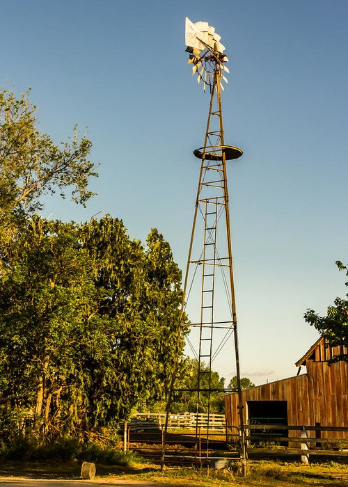 Jay Stockhaus Greeting Card featuring the photograph The Windmill by Jay Stockhaus