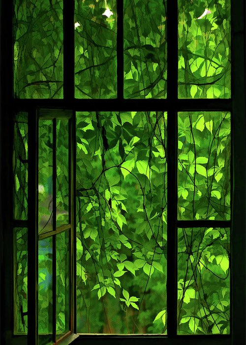 Window Greeting Card featuring the digital art The Window by Dale Jackson