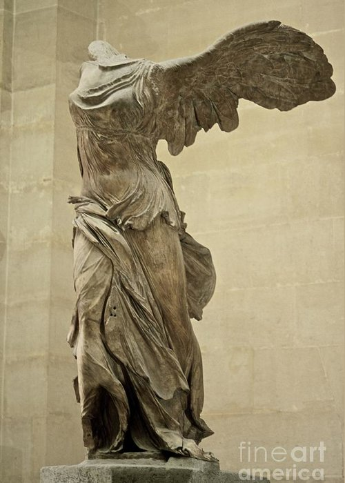 Winged Victory Of Samothrace Greeting Cards