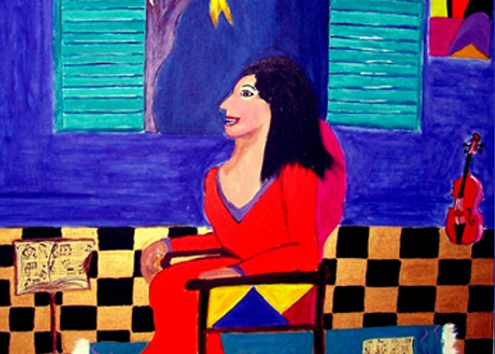 Fauvism Greeting Card featuring the painting The Witch's Duet by Rusty Gladdish