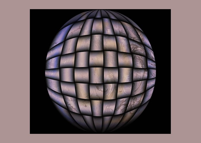 Globe Greeting Card featuring the digital art The World Weaved Together by Myrna Migala