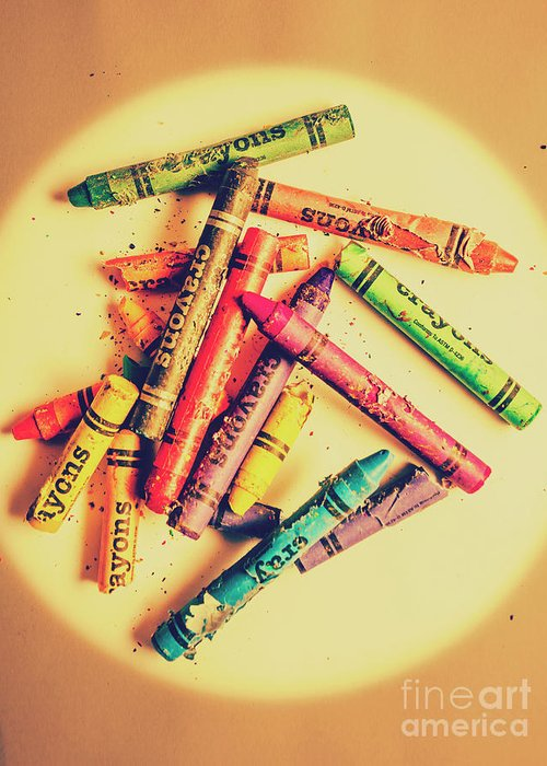 Crayons Greeting Cards