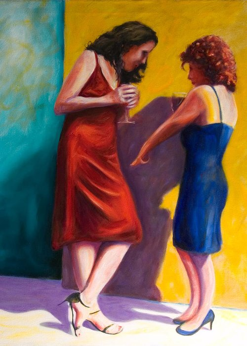 Figurative Greeting Card featuring the painting There by Shannon Grissom