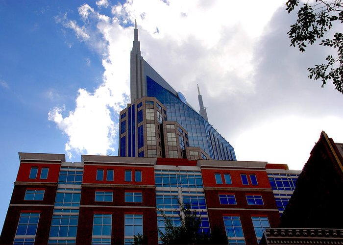 Nashville Greeting Card featuring the photograph There Where Modern And Old Architecture Meet by Susanne Van Hulst