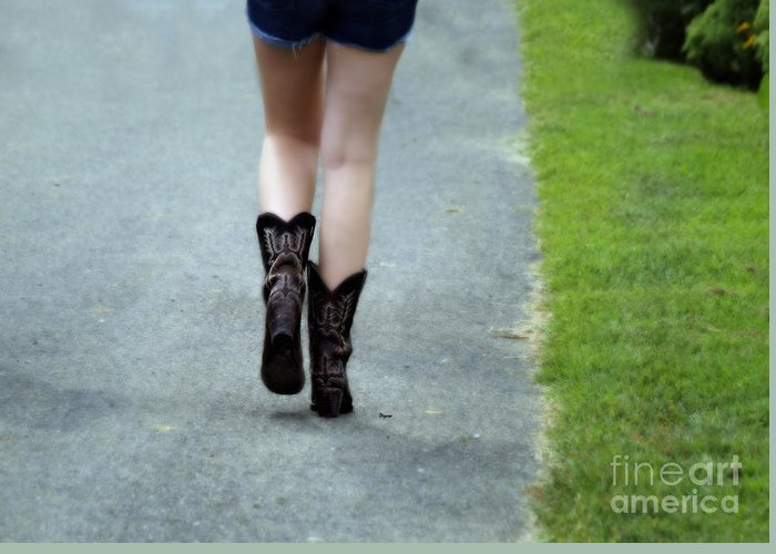 Women Greeting Card featuring the photograph These Boots Are Made For Walking by Steven Digman