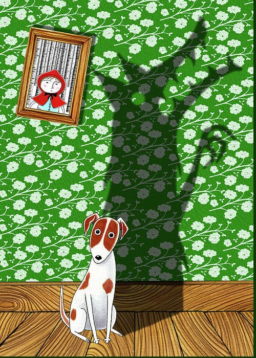 Dog Greeting Card featuring the digital art Think Big by Andrew Hitchen