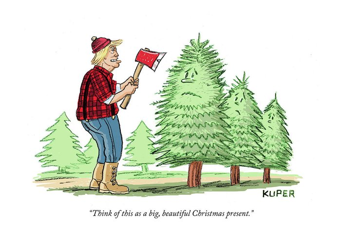 Christmas Present Drawings.Think Of This As A Big Beautiful Christmas Present Greeting Card