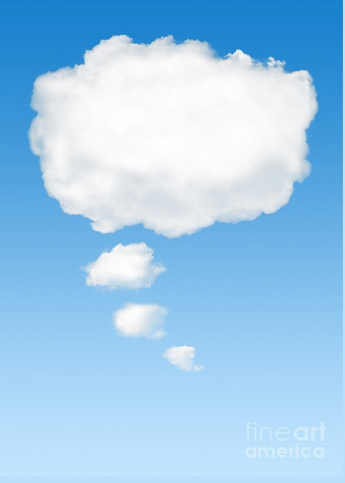 Background Greeting Card featuring the photograph Thinking Cloud by Carlos Caetano