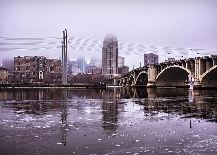 Third Greeting Card featuring the photograph Third Ave. Bridge by Doug Wallick