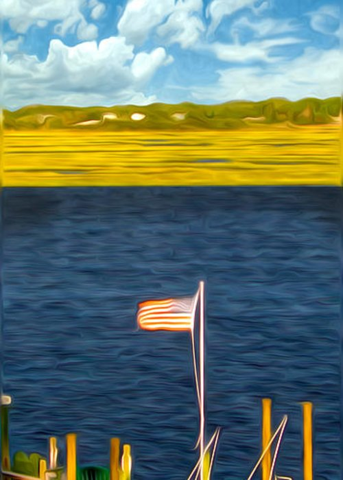 Patriotism Greeting Card featuring the photograph This American Sound by Laura Brightwood