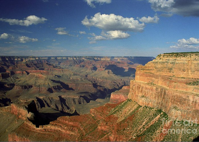 Grand Canyon Greeting Card featuring the photograph This Is My Father's World by Kathy McClure