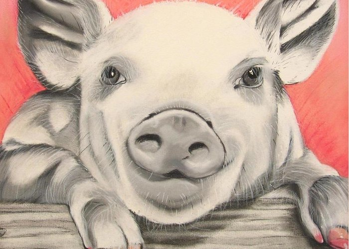 Gift For Pig Lover Greeting Cards