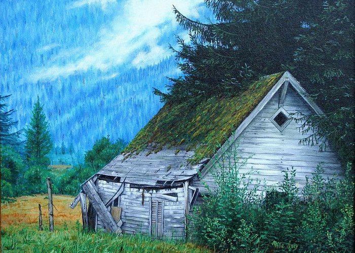 House Greeting Card featuring the painting This Old House by Mike Ivey