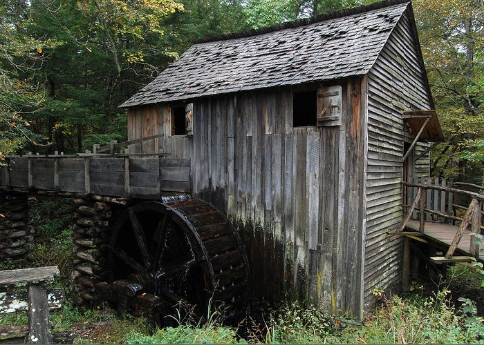 Fence Greeting Card featuring the photograph This Old Mill by Greg Straub