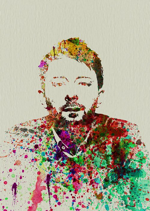 Thom Yorke Greeting Card featuring the painting Thom Yorke by Naxart Studio