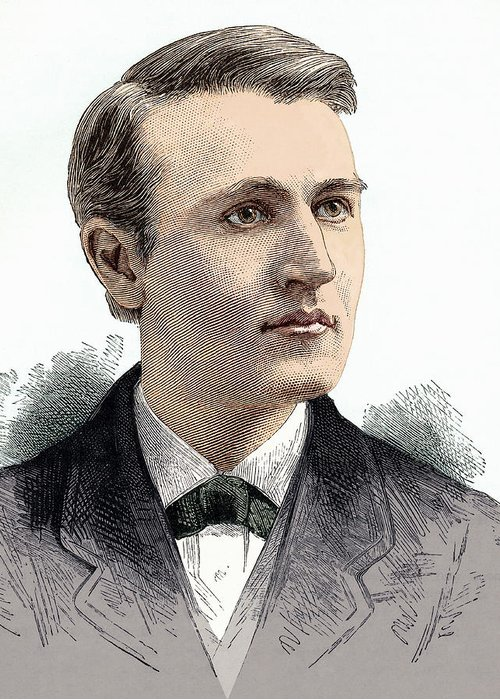 Thomas Alva Edison Greeting Card featuring the photograph Thomas Edison, American Inventor by Sheila Terry