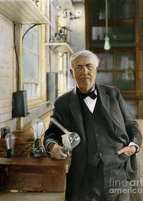 Thomas Alva Edison Greeting Cards