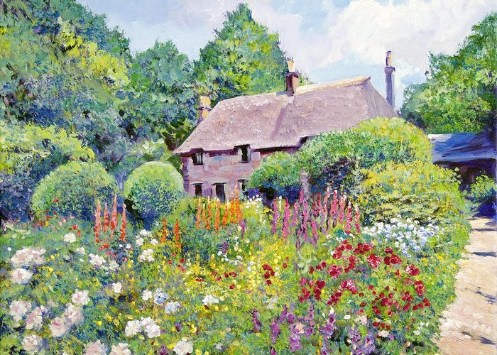 Impressionism Greeting Card featuring the painting Thomas Hardy House by David Lloyd Glover
