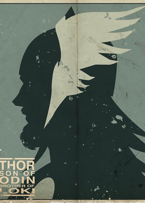 Thor Greeting Card featuring the digital art Thor by Michael Myers