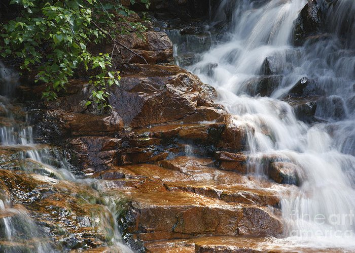 White Mountain National Forest Greeting Card featuring the photograph Thoreau Falls - White Mountains New Hampshire by Erin Paul Donovan