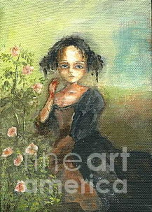 Roses Greeting Card featuring the painting Thorn by Mya Fitzpatrick