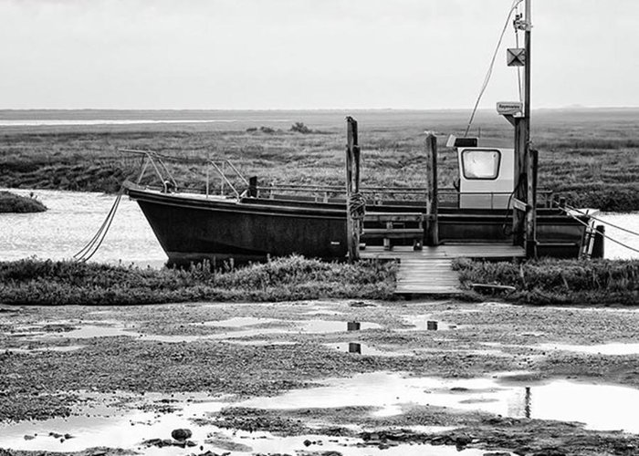 Amazing Greeting Card featuring the photograph Thornham Harbour, North Norfolk by John Edwards