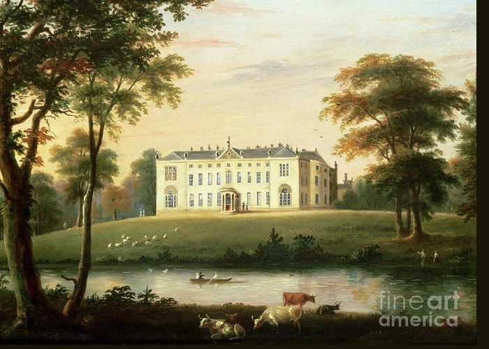 Thorp Greeting Card featuring the painting Thorp Perrow Near Snape In Yorkshire by English School