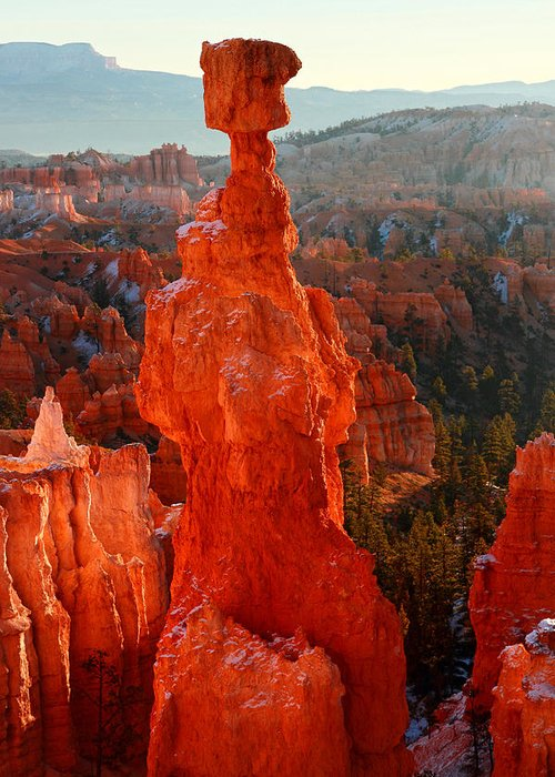 Bryce Greeting Card featuring the photograph Thor's Hammer At Sunrise by Pierre Leclerc Photography