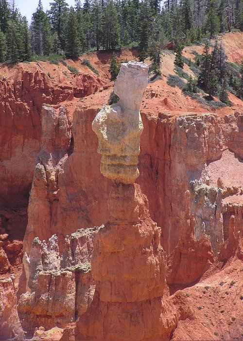 Bryce Greeting Card featuring the photograph Thor's Hammer by Louise Magno