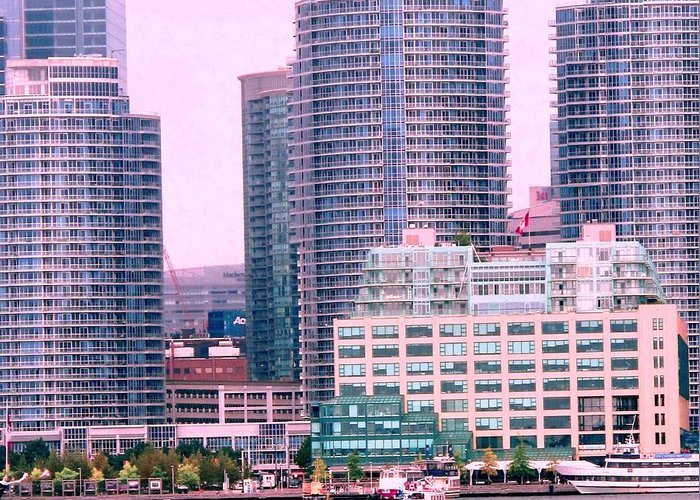 Toronto Greeting Card featuring the photograph Thousands Of Windows On The Harbor by Ian MacDonald