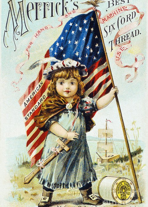 1880s Greeting Card featuring the photograph Thread Trade Card, C1880 by Granger