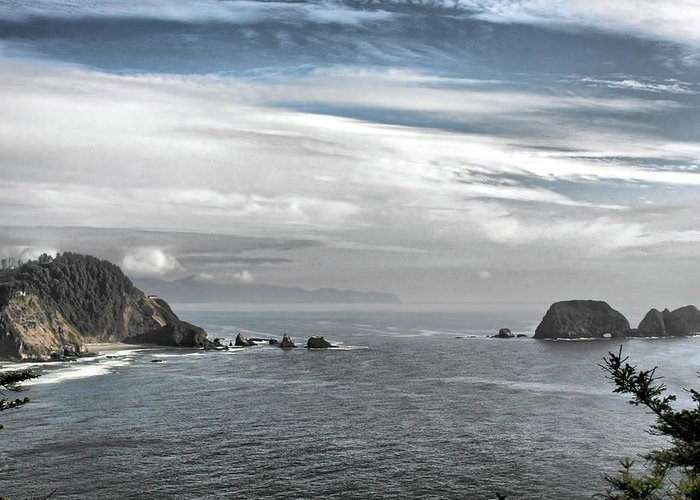 National Wildlife Refuge Greeting Card featuring the photograph Three Arch Rocks National Wildlife Refuge Near Cape Meares Oregon by Christine Till