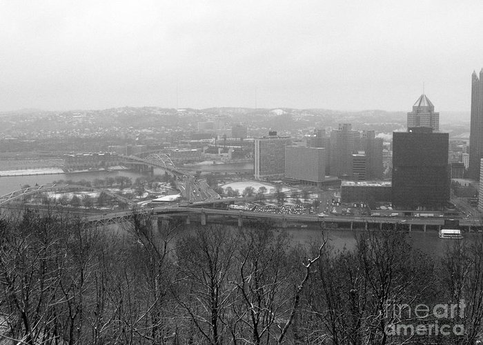 Winter Greeting Card featuring the photograph Three Rivers by David Bearden