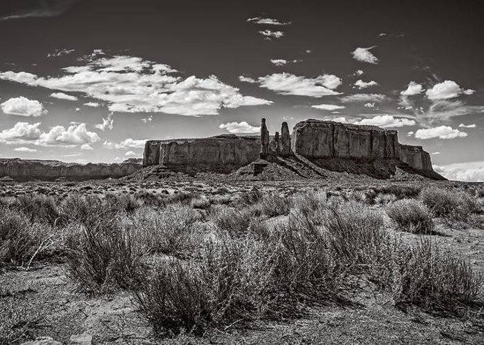Monument Valley Greeting Card featuring the photograph Three Sisters by Saija Lehtonen