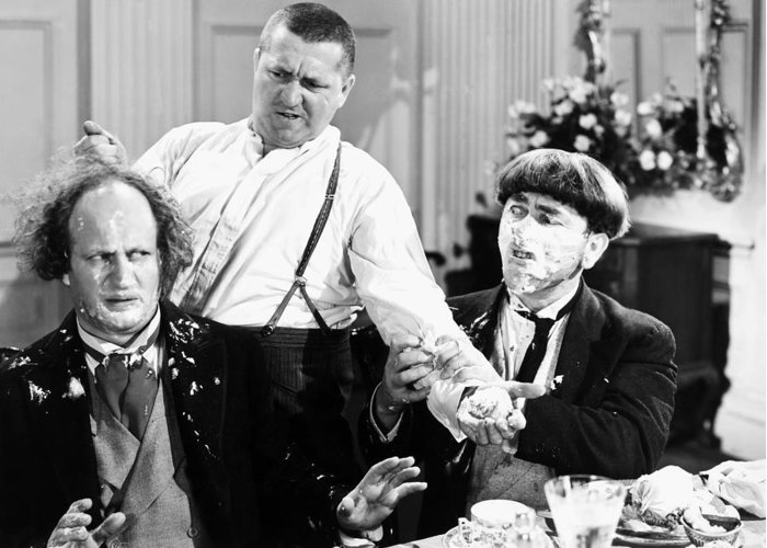 1930 Greeting Card featuring the photograph Three Stooges: Film Still by Granger