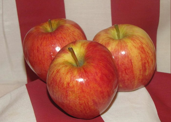 Apple Greeting Card featuring the photograph Threes Company by Don Howard
