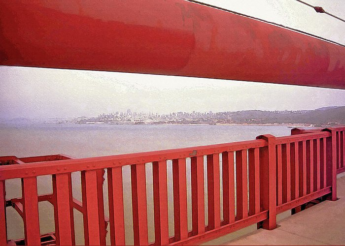 Golden Gate Greeting Card featuring the photograph Through The Bridge View Of San Francisco by Steve Ohlsen