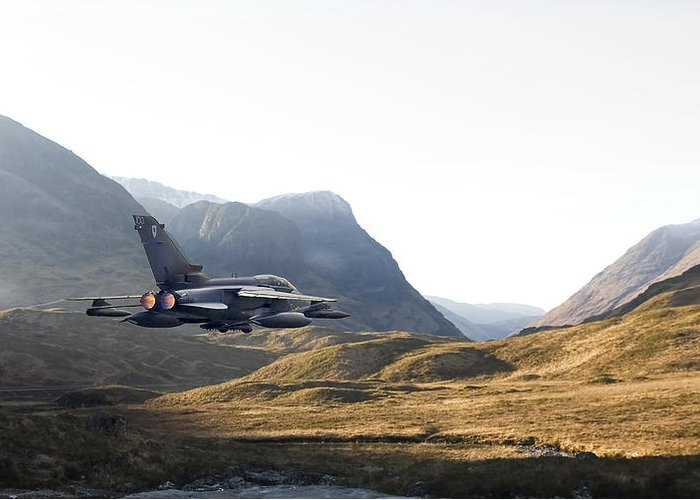 Tornado Jet Greeting Card featuring the photograph Thunder In The Glen by Pat Speirs