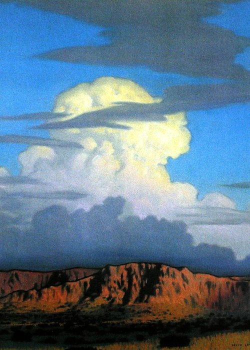 Weather Greeting Card featuring the painting Thunderhead by Kevin Lawrence Leveque