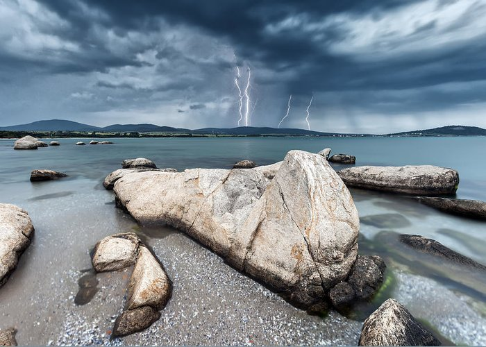 Akin Cape Greeting Card featuring the photograph Thunderstorm by Evgeni Dinev