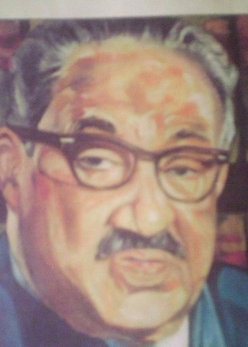 Portraits Greeting Card featuring the painting Thurgood Marshall by Impressionist FineArtist Tucker Demps Collection