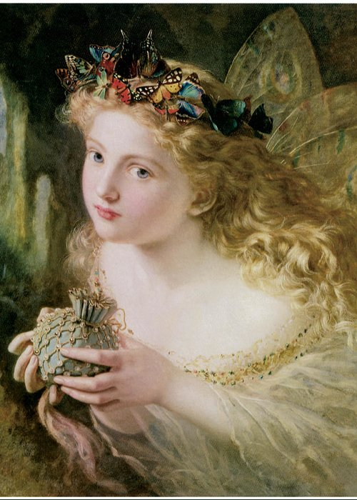 Sophie Anderson Greeting Card featuring the painting Thus Your Fairy's Made Of Most Beautiful Things by Sophie Anderson