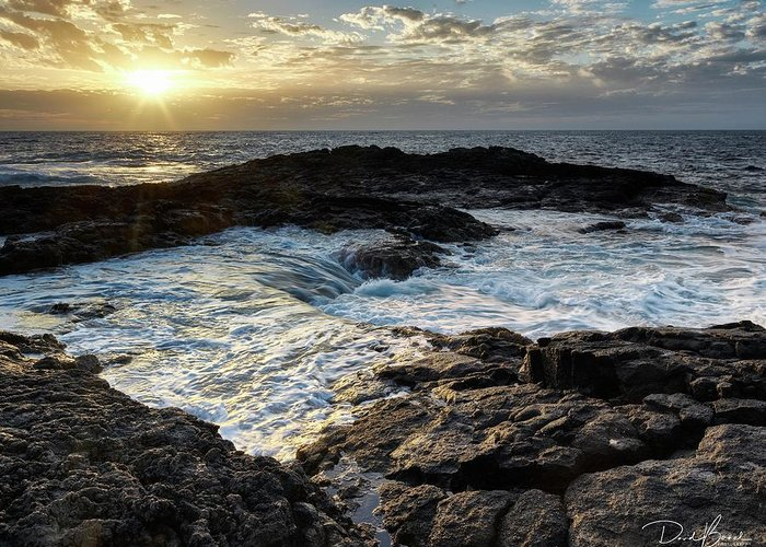 Sunset Greeting Card featuring the photograph Tidal Pool Sunset by David Bernal