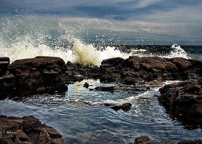Waves Greeting Card featuring the photograph Tide Coming In by Christopher Holmes