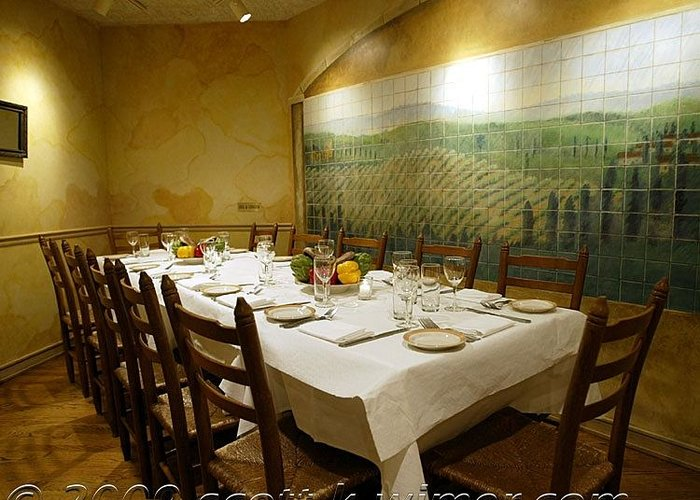 Greeting Card featuring the painting Tile Mural At Vinci Restaurant -chicago by Scott K Wimer